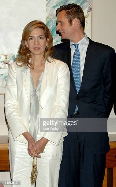 Cristina Of Spain and Husband Inaki Urdangarin during Cristina Of Spain and Husband Inaki Urdangarin Preside the Annual Salvador de Madariaga...