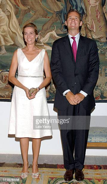 Cristina of Spain and Iaki Urdangarin during Spanish Royals attend the Traditional Summer Holidays End Dinner at Almudaina Palace in Palma de...