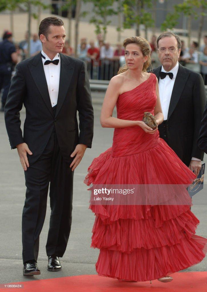 Cristina of Spain during 2006 Laureus World Sports Awards - Red Carpet Arrivals in Barcelona, Spain.