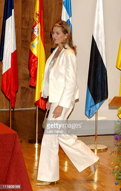 Cristina Of Spain during Cristina Of Spain and Husband Inaki Urdangarin Preside the Annual Salvador de Madariaga European Journalism Awards May 8...