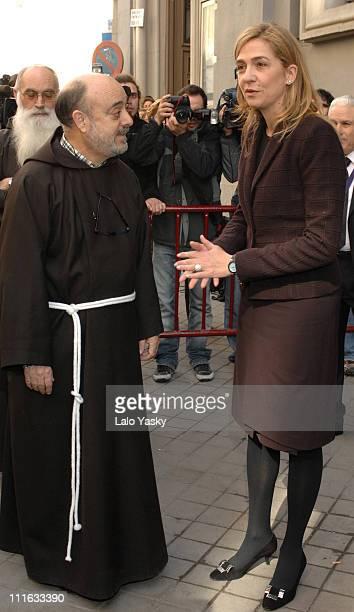 Cristina of Spain during Cristina of Spain Visits Jesus of Medinaceli`s Church March 2 2007 at Iglesia de Jesus de Medinaceli in Madrid Spain