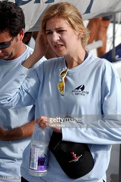 Cristina of Spain during King Juan Carlos, King Herald and Prince Felipe, sail at the Regata Breitling at Regata Breitling. In Palma De Mallorca,...