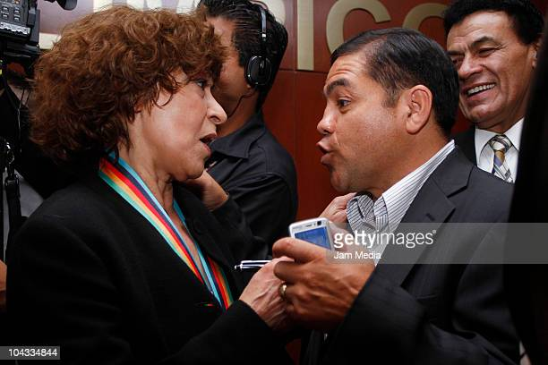 Cristina Pacheco and Humberto Gonzales during the Joaquin Capilla awards ceremony at Olympic Museum on September 21 2010 in Mexico City Mexico
