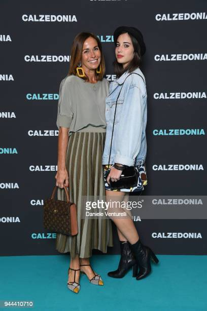Cristina Parodi and Angelica Gori attend the Calzedonia Summer Show on April 10 2018 in Verona Italy