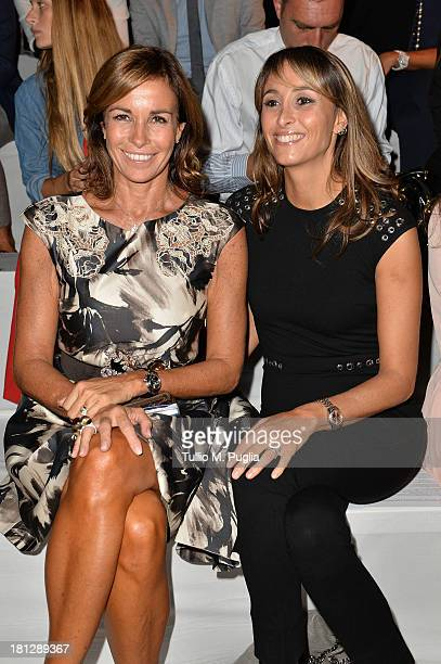 Cristina Parodi and Benedetta Parodi attend the Blumarine show as a part of Milan Fashion Week Womenswear Spring/Summer 2014 on September 20 2013 in...