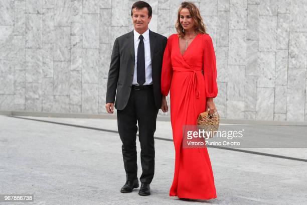 Cristina Parodi and Giorgio Gori arrive at Convivio 2018 on June 5 2018 in Milan Italy