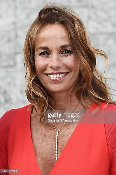 Cristina Parodi arrives at Convivio 2018 on June 5 2018 in Milan Italy