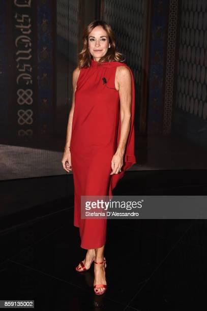 Cristina Parodi attend 'Che Tempo Che Fa' Tv Show at Rai Studios on October 8 2017 in Rome Italy
