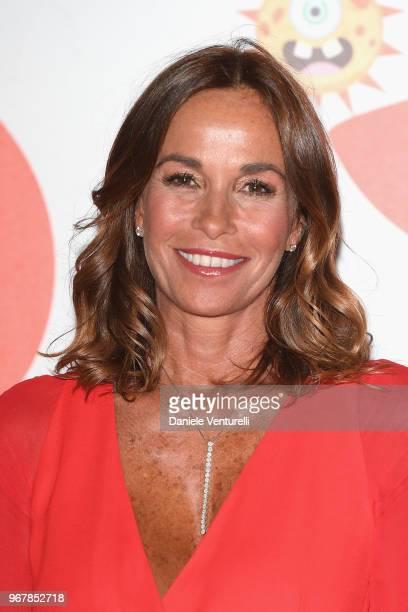 Cristina Parodi attends Convivio photocall on June 5 2018 in Milan Italy