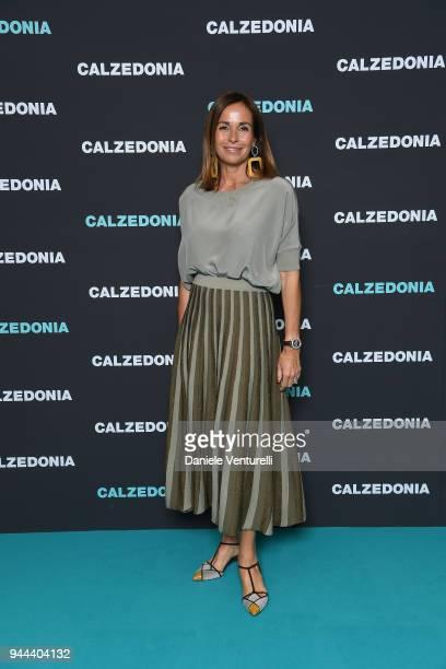 Cristina Parodi attends the Calzedonia Summer Show on April 10 2018 in Verona Italy