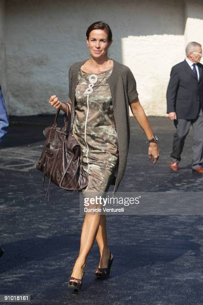 Cristina Parodi attends the Cittadellarte Fashion Bio Ethical Sustainable Trend Opening at the Fondazione Pistoletto on September 22 2009 in Biella...