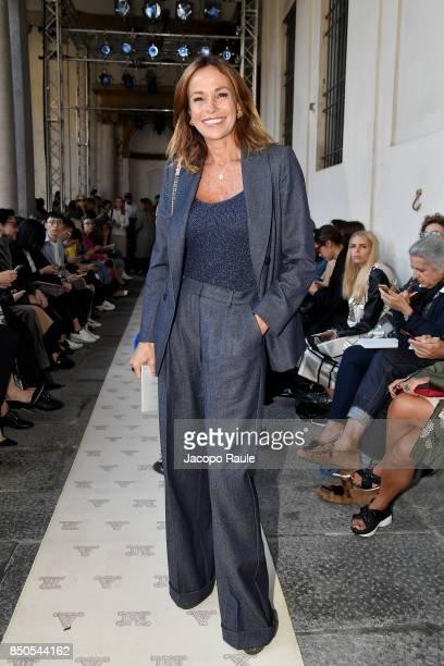 Cristina Parodi attends the Max Mara show during Milan Fashion Week Spring/Summer 2018 on September 21 2017 in Milan Italy