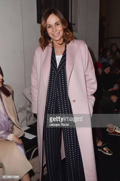 Cristina Parodi attends the Max Mara show during Milan Fashion Week Fall/Winter 2018/19 on February 22 2018 in Milan Italy