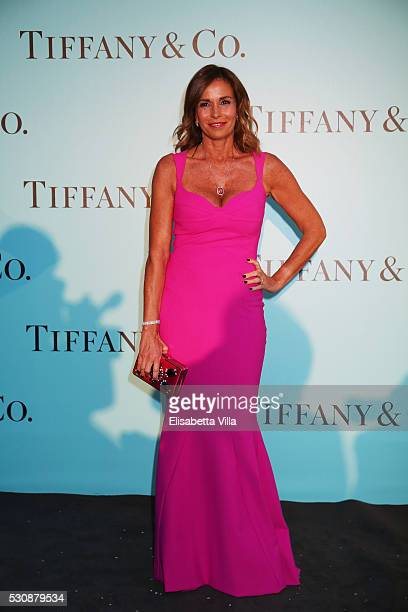 Cristina Parodi attends Tiffany Co celebration of the opening of its new store in Rome at at Villa Aurelia on May 11 2016 in Rome Italy
