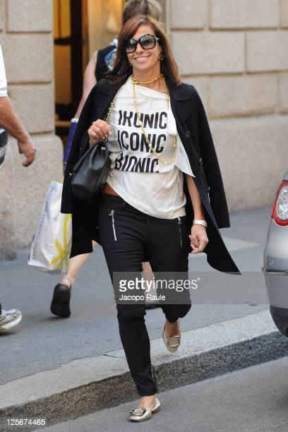 Cristina Parodi is see on September 20 2011 in Milan Italy