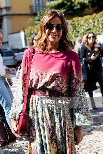 Cristina Parodi seen outside the Etro show during Milan Fashion Week Spring/Summer 2020 on September 20 2019 in Milan Italy