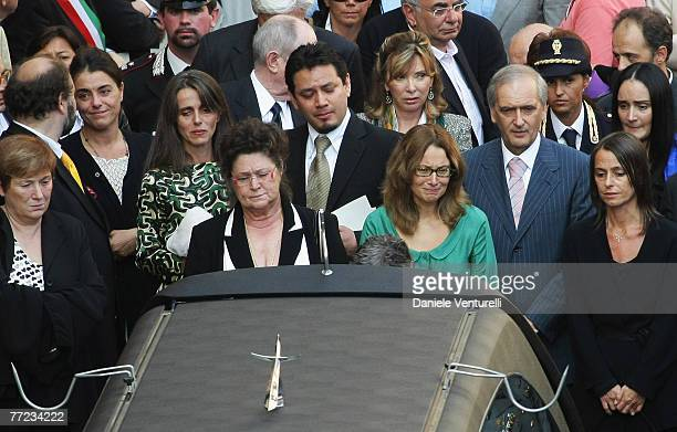 Cristina Pavarotti Edwin Tinoco Veronica Zeggio Gianni Mantovani Lorenza Pavarotti Gabriella Pavarotti and Nicoletta Mantovani Pavarotti attend...