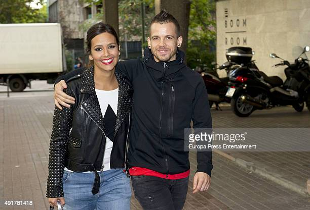 Cristina Pedroche and David Munoz are seen on October 7 2015 in Madrid Spain