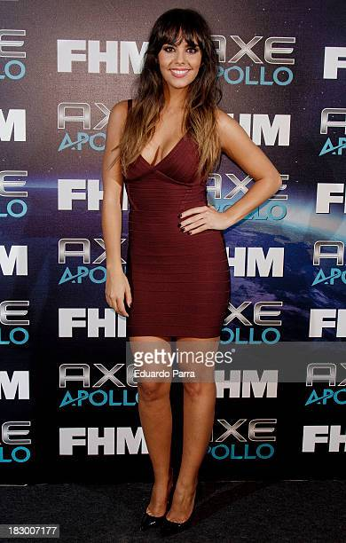 Cristina Pedroche attends '100 sexiest women in the world' party photocall at OUI Madrid on October 3 2013 in Madrid Spain
