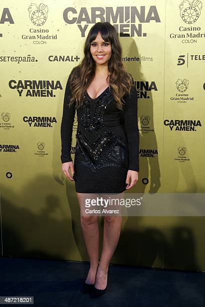 Cristina Pedroche attends the 'Carmina y Amen' premiere at the Callao cinema on April 28 2014 in Madrid Spain