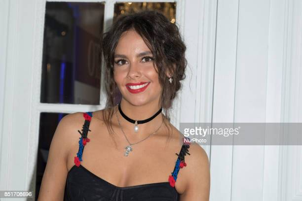 Cristina Pedroche attends the 'Morellato party' photocall at Alma Club on September 22, 2017 in Madrid, Spain.