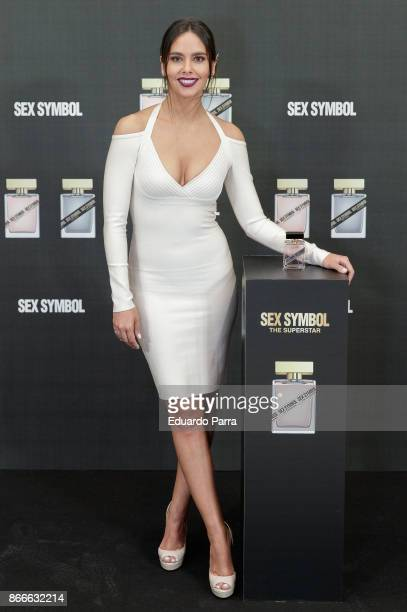 Cristina Pedroche attends the 'Sex Symbol' fragrances photocall at Eurobuilding hotel on October 26, 2017 in Madrid, Spain.