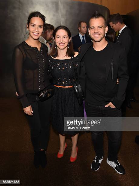Cristina Pedroche Elena Arzak and David Munoz attend 10th anniversary of Alain Ducasse at The Dorchester on October 23 2017 in London England
