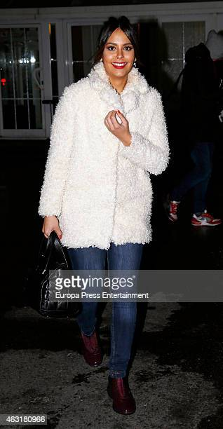 Cristina Pedroche is seen on January 21 2015 in Madrid Spain
