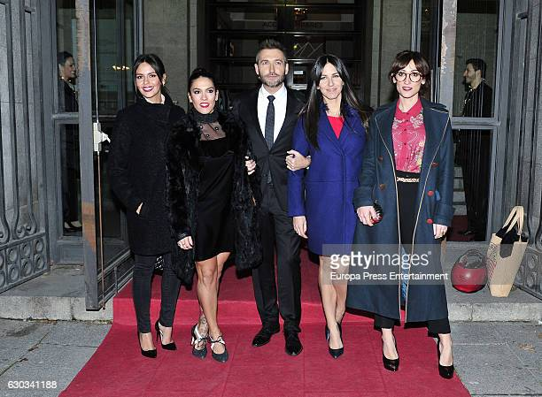 Cristina Pedroche Lorena Castell Frank Blanco Irene Junquera and Ana Morgade attend the ATRESMEDIA Christmast Dinner on December 20 2016 in Madrid...
