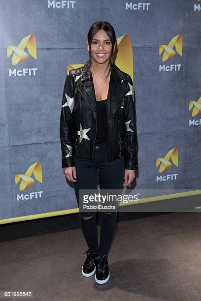 Cristina Pedroche presents McFIT Gym at Nuevos Ministerios Station on January 18 2017 in Madrid Spain