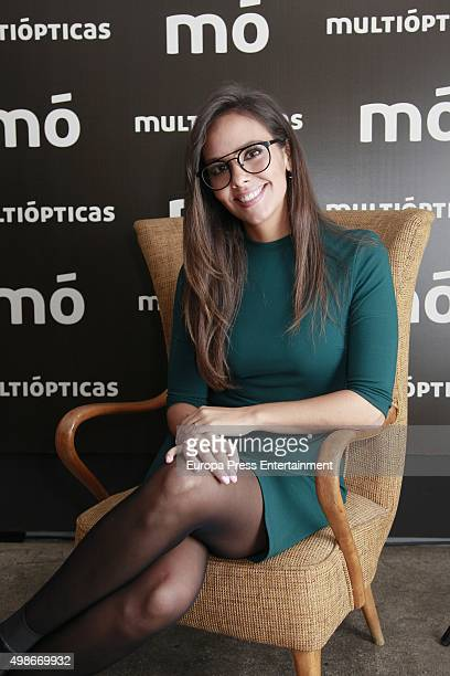 Cristina Pedroche presents the Multiopticas new collection on November 24 2015 in Madrid Spain