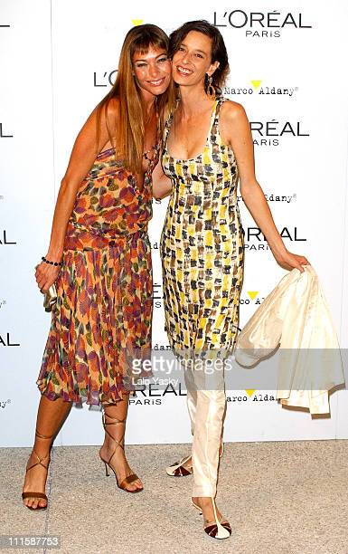 Cristina Piager and Paola Bose during Natalie Imbruglia Hosts L'Oreal Party to Celebrate Pasarela Cibeles Fashion Week at Museo del Traje in Madrid...