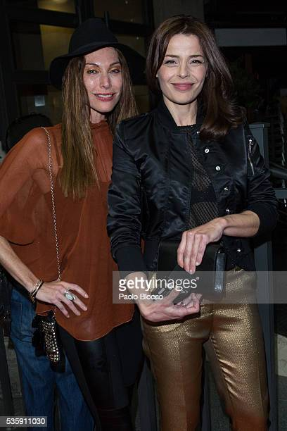 Cristina Piaget and Inma del Moral are seen arriving to 'Nuestros Amantes' premiere at Palafox Cinema on May 30 2016 in Madrid Spain