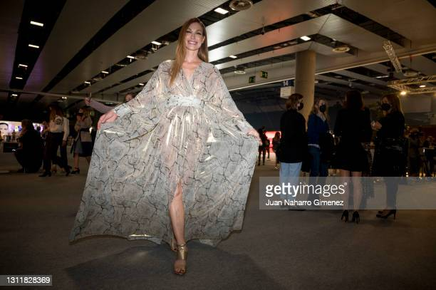 Cristina Piaget attends Angel Schlesser fashion show during the Merecedes Benz Fashion Week April 2021 edition at Ifema on April 10, 2021 in Madrid,...