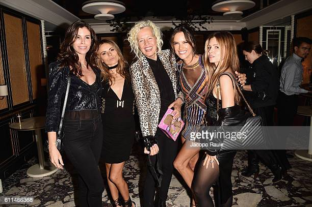 Cristina Pitanguy Ellen von Unwerth Alessandra Ambrosio and some guests attend the Balmain aftershow party as part of the Paris Fashion Week...