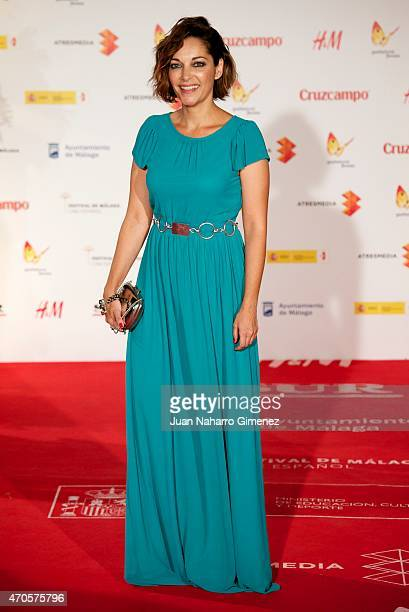 Cristina Plazas attends the 'Requisitos Para Ser Una Persona Normal' premiere during the 18th Malaga Spanish Film Festival at Cervantes Theater on...