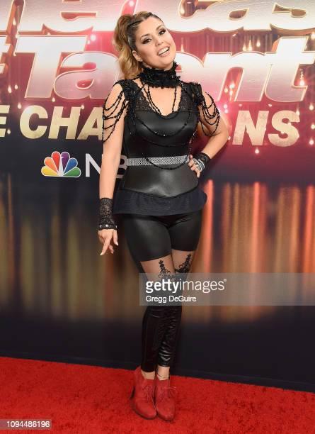 Cristina Ramos arrives at America's Got Talent The Champions Finale at Pasadena Civic Auditorium on October 17 2018 in Pasadena California