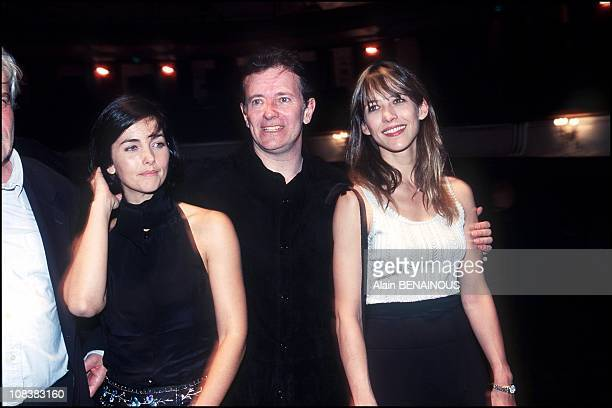 Cristina Reali Francis Huster and Sophie Marceau in France on September 11 2000