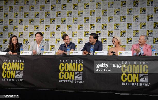 Cristina Rodlo Alexander Woo Max Borenstein Derek Mio Kiki Sukezane and George Take speak at The Terror Infamy Panel at Comic Con 2019 on July 19...