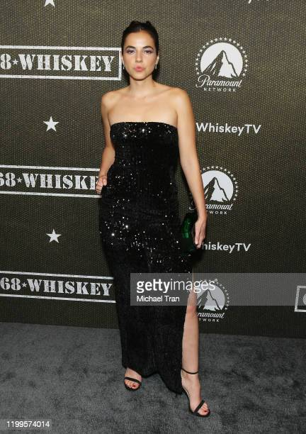 Cristina Rodlo arrives to the Los Angeles premiere of Paramount Pictures' 68 Whiskey held at Sunset Tower on January 14 2020 in Los Angeles California