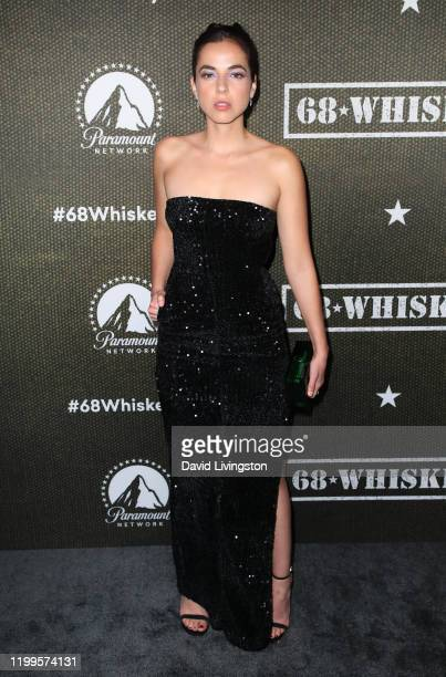 Cristina Rodlo attends the premiere of Paramount Pictures' 68 Whiskey at Sunset Tower on January 14 2020 in Los Angeles California