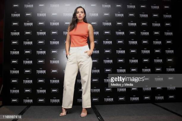 Cristina Rodlo poses for photos during the presentation of the AMC series 'The Terror Infamy' at Hotel W on August 1 2019 in Mexico City Mexico