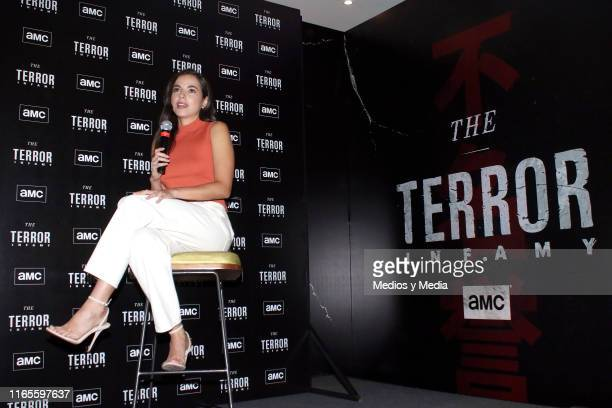 Cristina Rodlo speaks during the presentation of the AMC series 'The Terror Infamy' at Hotel W on August 1 2019 in Mexico City Mexico