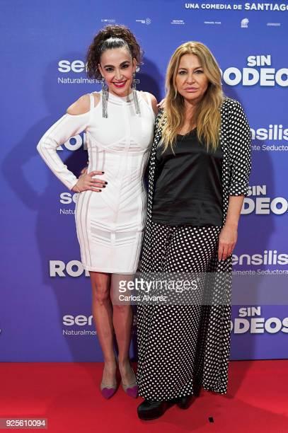 Cristina Rodriguez and Cristina Tarrega attend 'Sin Rodeos' premiere at the Capitol cinema on February 28 2018 in Madrid Spain