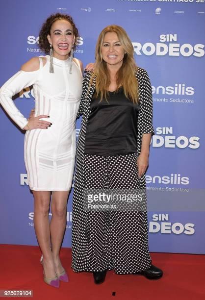 Cristina Rodriguez and Cristina Tarrega attend the 'Sin Rodeos' premiere at Capitol cinema on February 28 2018 in Madrid Spain
