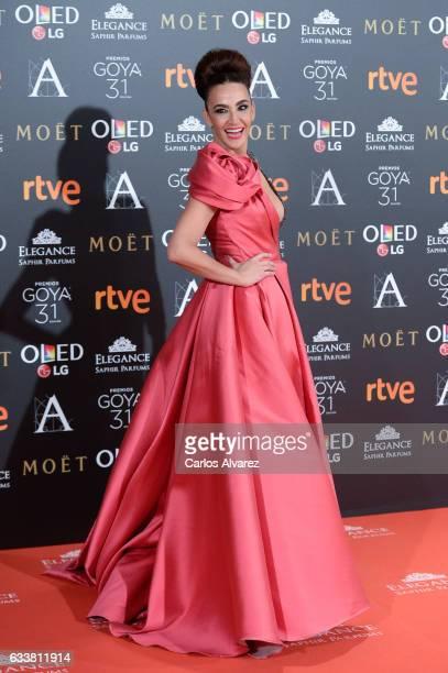 Cristina Rodriguez attends Goya Cinema Awards 2017 at Madrid Marriott Auditorium on February 4 2017 in Madrid Spain