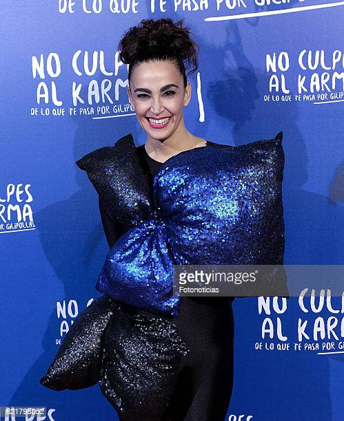 Cristina Rodriguez attends the 'No Culpes al Karma De lo Que Te Pasa Por Gilipollas' Madrid premiere at Capitol cinema on November 8 2016 in Madrid...