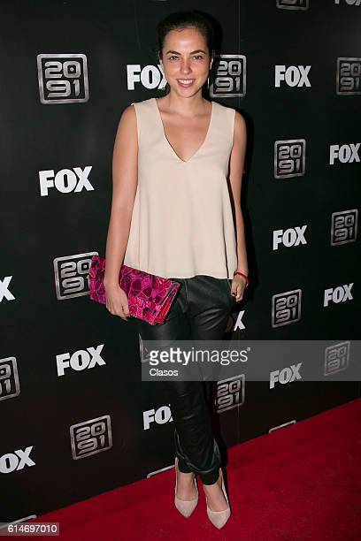 Cristina Roldo poses during Fox's series 2091 Red Carpet on October 14 at Foro Masaryk in Mexico City Mexico