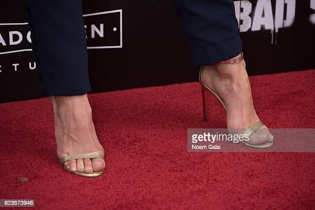 Cristina Rosato shoe detail attends the Bad Santa 2 New York premiere at AMC Loews Lincoln Square 13 theater on November 15 2016 in New York City