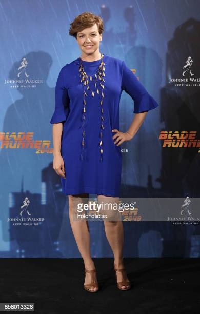 Cristina Saavedra attends the 'Blade Runner 2049' premiere at the Callao City Lights cinema on October 5 2017 in Madrid Spain